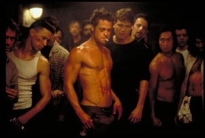 Tyler Durden Brad Pitt Podziemny Krąg Fight Club 1999 20th Century Fox