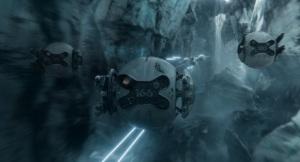Drony przypominają T-figherty z Gwiezdnych Wojen Niepamięć Oblivion - Universal 2013