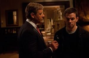 Taggertowi Mark Wahlberg ciąży sumienie. W rozmowie z Burmistrzem Russell Crowe. Władza Broken City - Twentieth Century Fox 2013