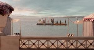 Widok na z posiadłości Gatsbiego. Long Island Nowy York Wielki Gatsby - Warner Bros 2013
