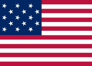 flaga amerykanska 15 gwiazdek