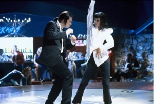 Vincent Vega John Travolta, Mia Wallace Uma Thurman - Pulp Fiction 1994 Miramax