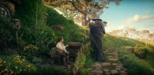 Martin Freeman Bilbo Baggins, Ian McKellen Gandalf - Hobbit 2012 Warner Bros