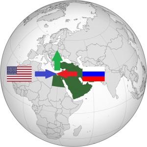 Bliski wschód mapa uchodźców projekcja krzysztofk